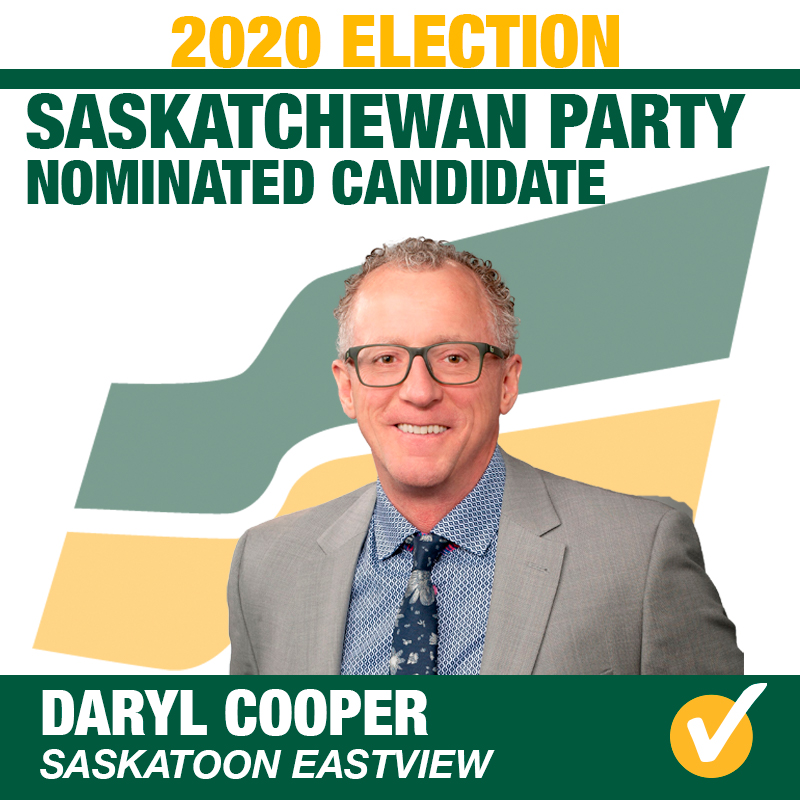 Daryl Cooper Acclaimed as Saskatchewan Party Candidate for Saskatoon Eastview
