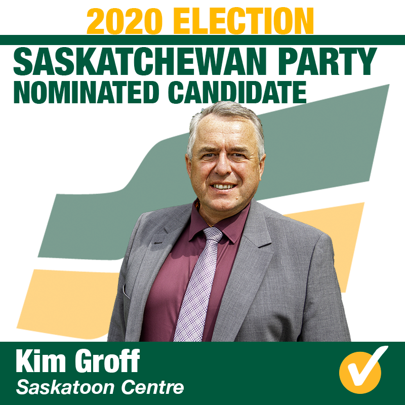 Kim Groff Nominated in Saskatoon Centre for 2020 Election