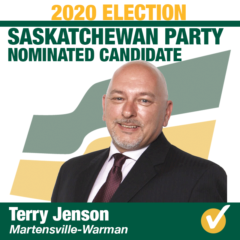 Terry Jenson Wins Contested Nomination in Martensville-Warm