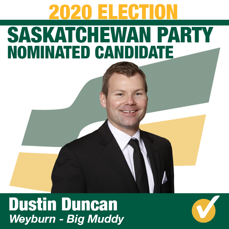 Dustin Duncan Nominated in Weyburn-Big Muddy