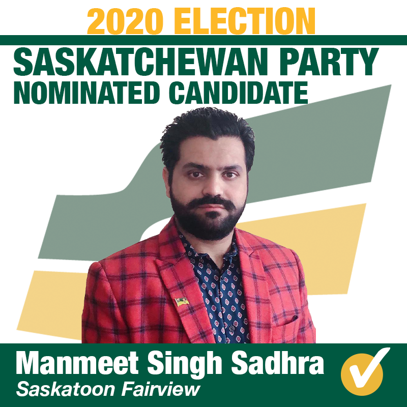 Manmeet Singh Sadhra Wins Contested Nomination in Saskatoon Fairview