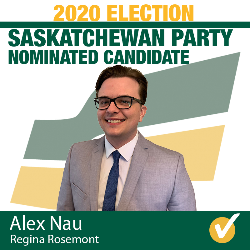 Alex Nau Acclaimed as Saskatchewan Party Candidate for Regina Rosemont