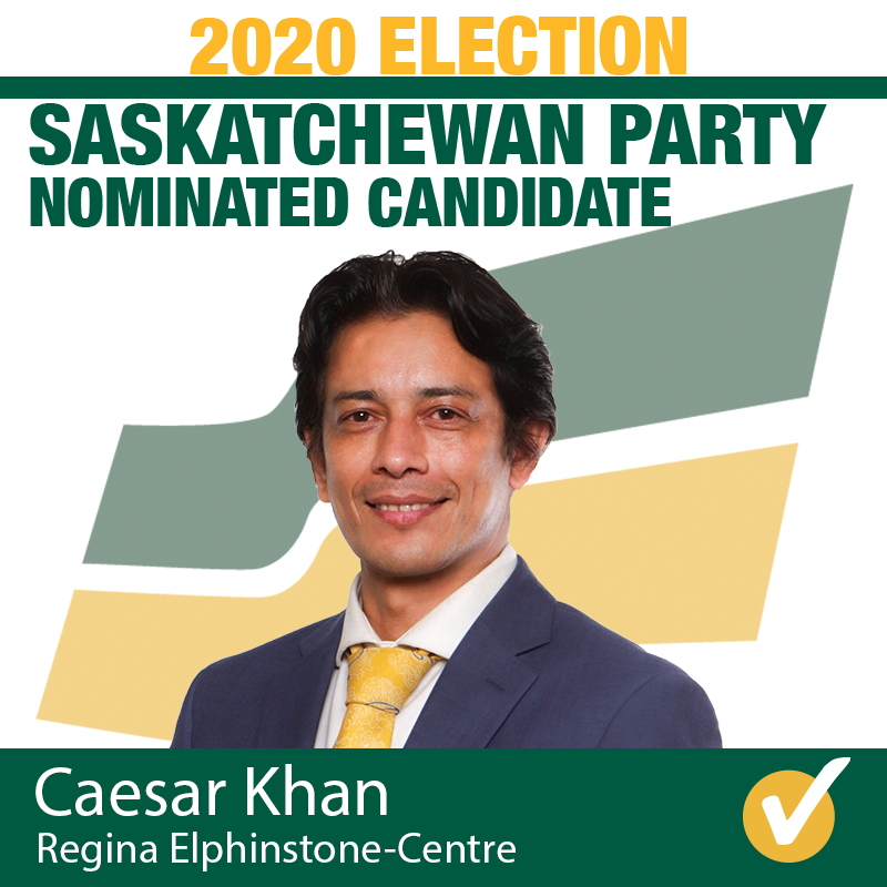 Caesar Khan Acclaimed as Saskatchewan Party Candidate for Regina Elphinstone-Centre