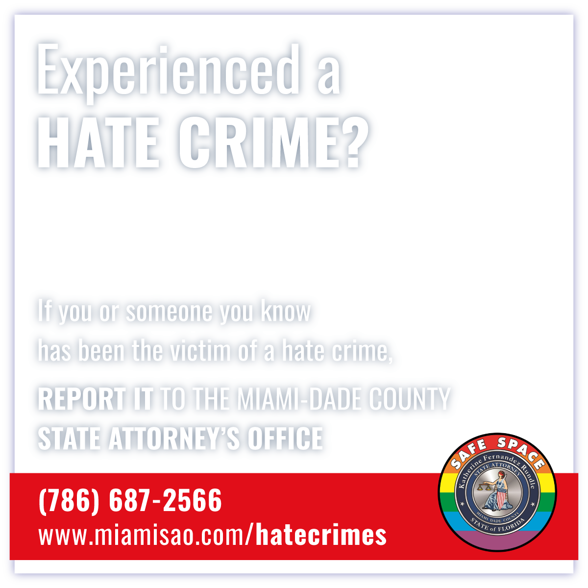 Report Hate Crime to the State Attorney Office