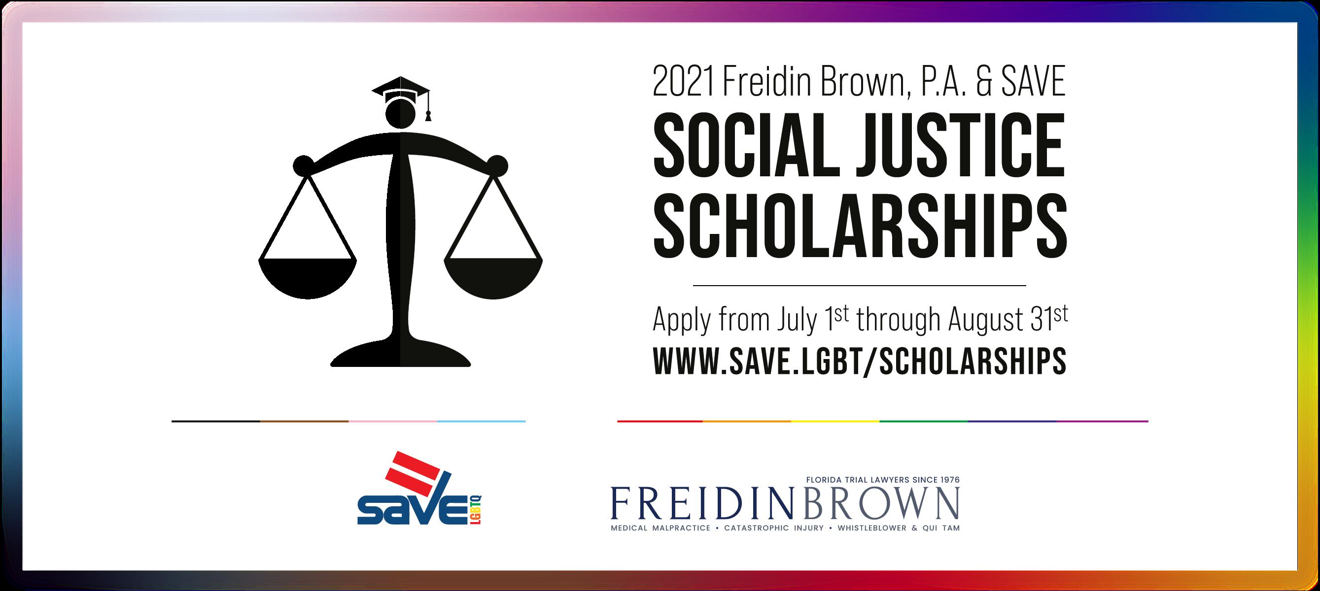 Freidin Brown, P.A. & SAVE Social Justice Scholarship