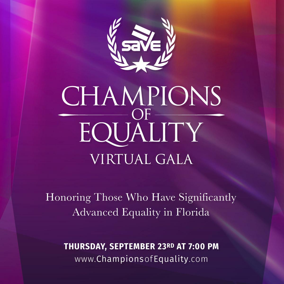 Champions of Equality Virtual Gala