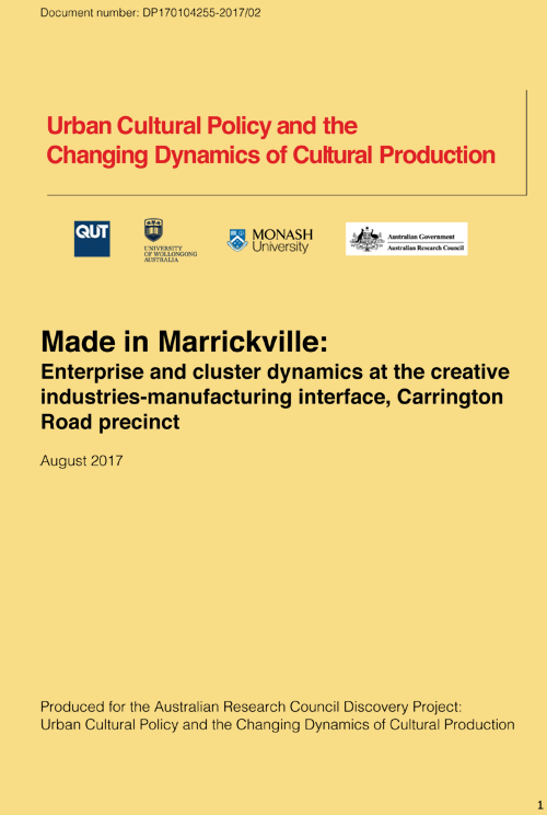 Made in Marrickville report cover