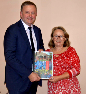 Anthony Albanese MP and 'Save Marrickville' spokesperson Kelsie Dadd launch the Marrickville Character Study