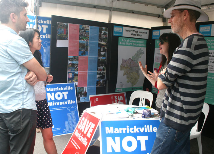 Marrickville Festival stall 2018
