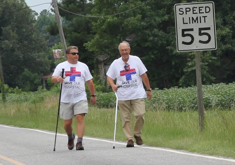 Rural N.C. mayor walking to D.C.