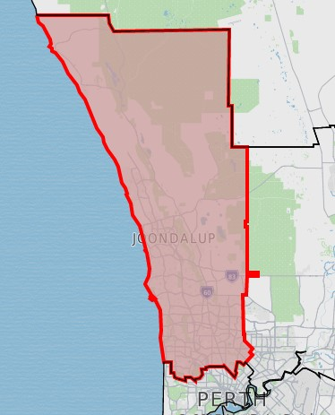 ABS map of the North West Perth region