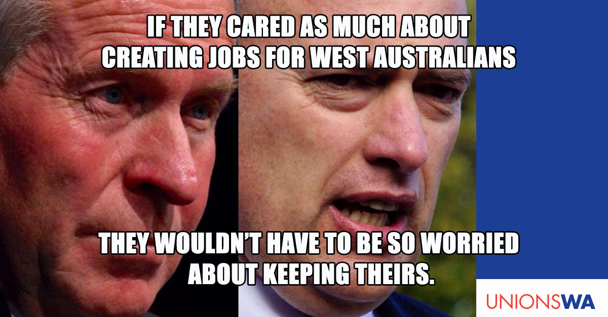 Barnett and Nalder are not worried about anyone's jobs but theirs