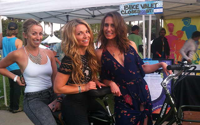 Make new friends at Bike Valet events