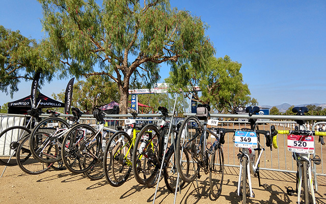 bike valet at the Fig Fondo