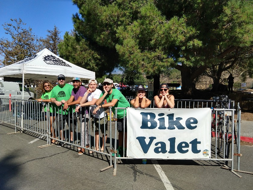 bike valet at the Moxi