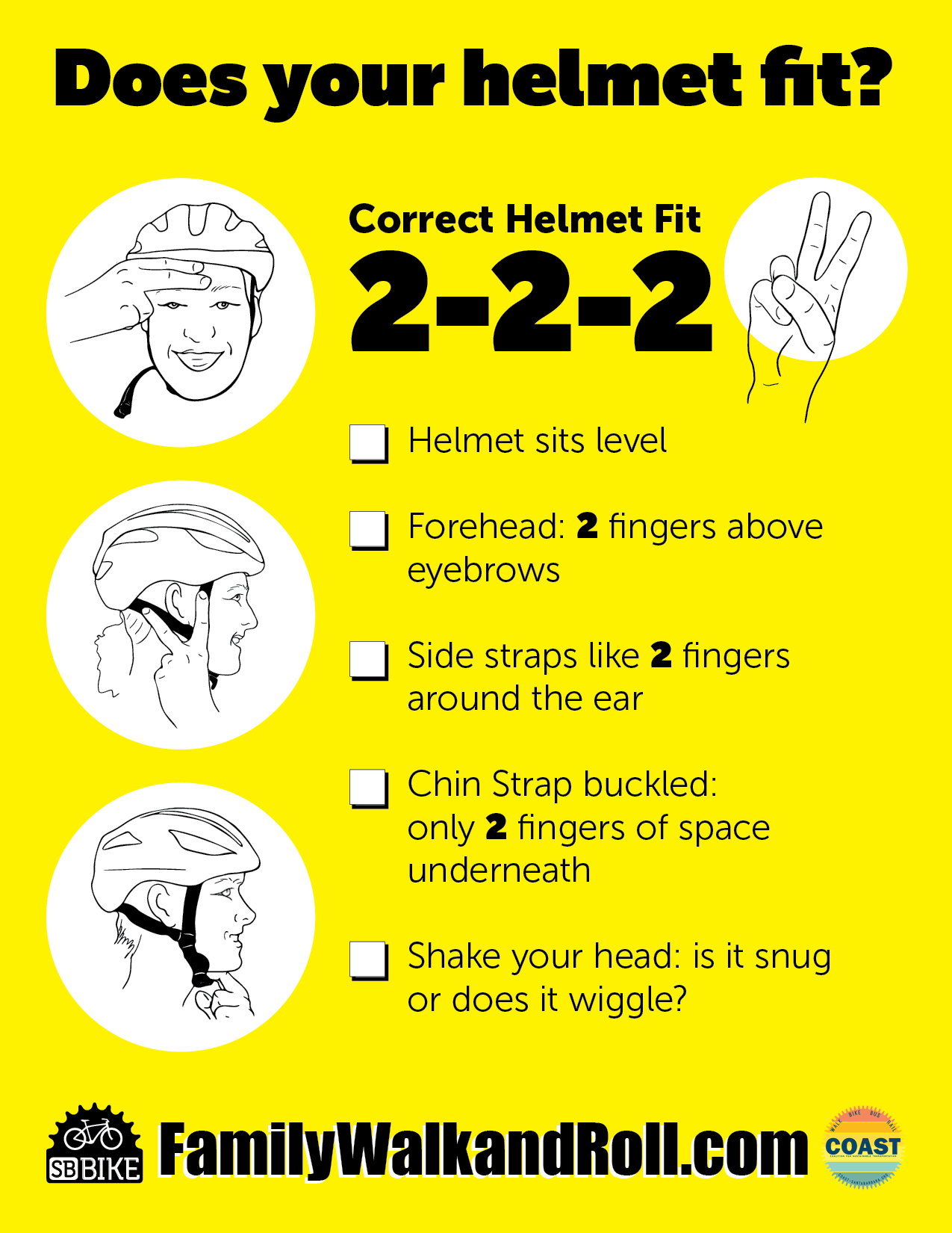 How to fit your helmet correctly