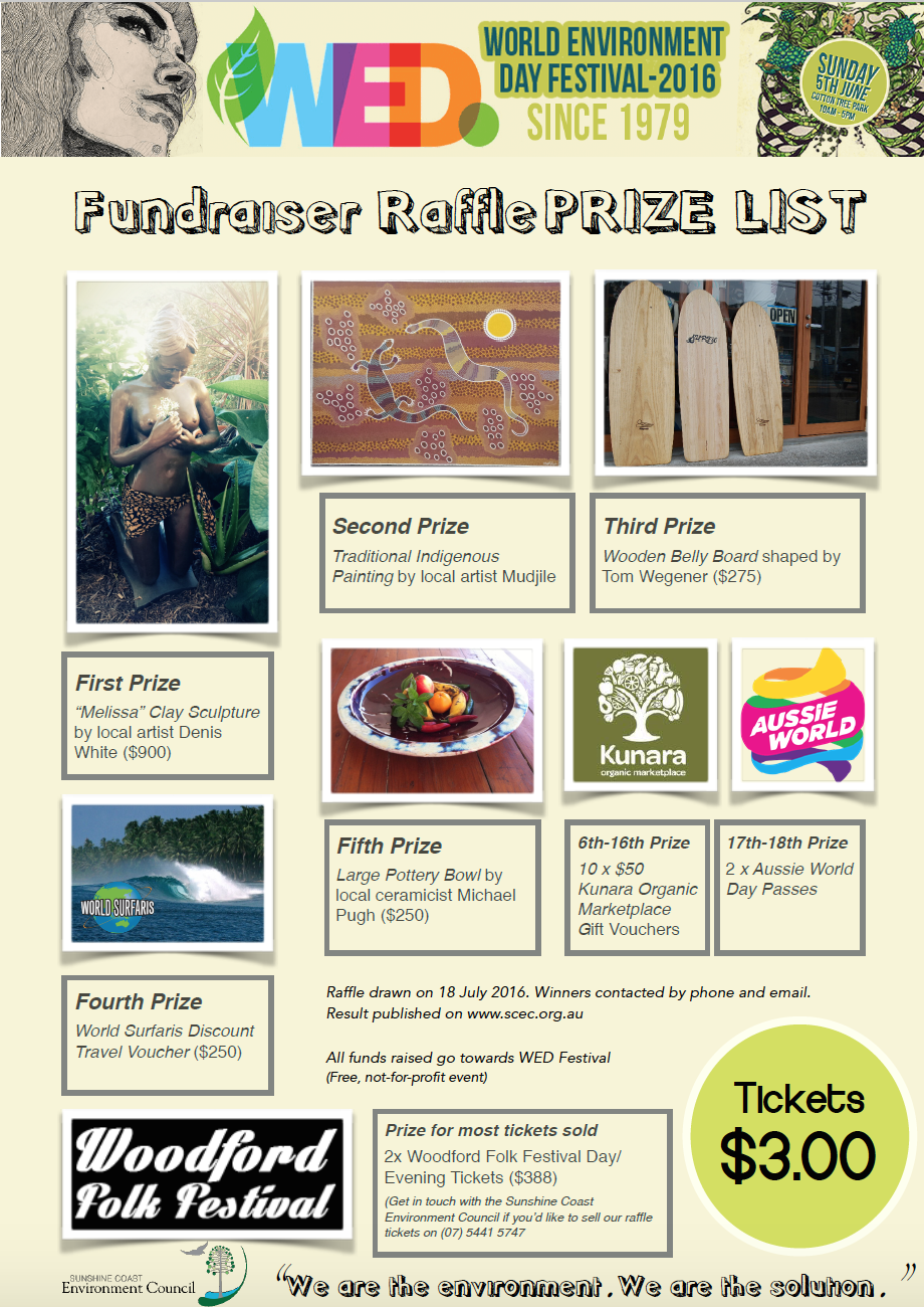 WED Prize List