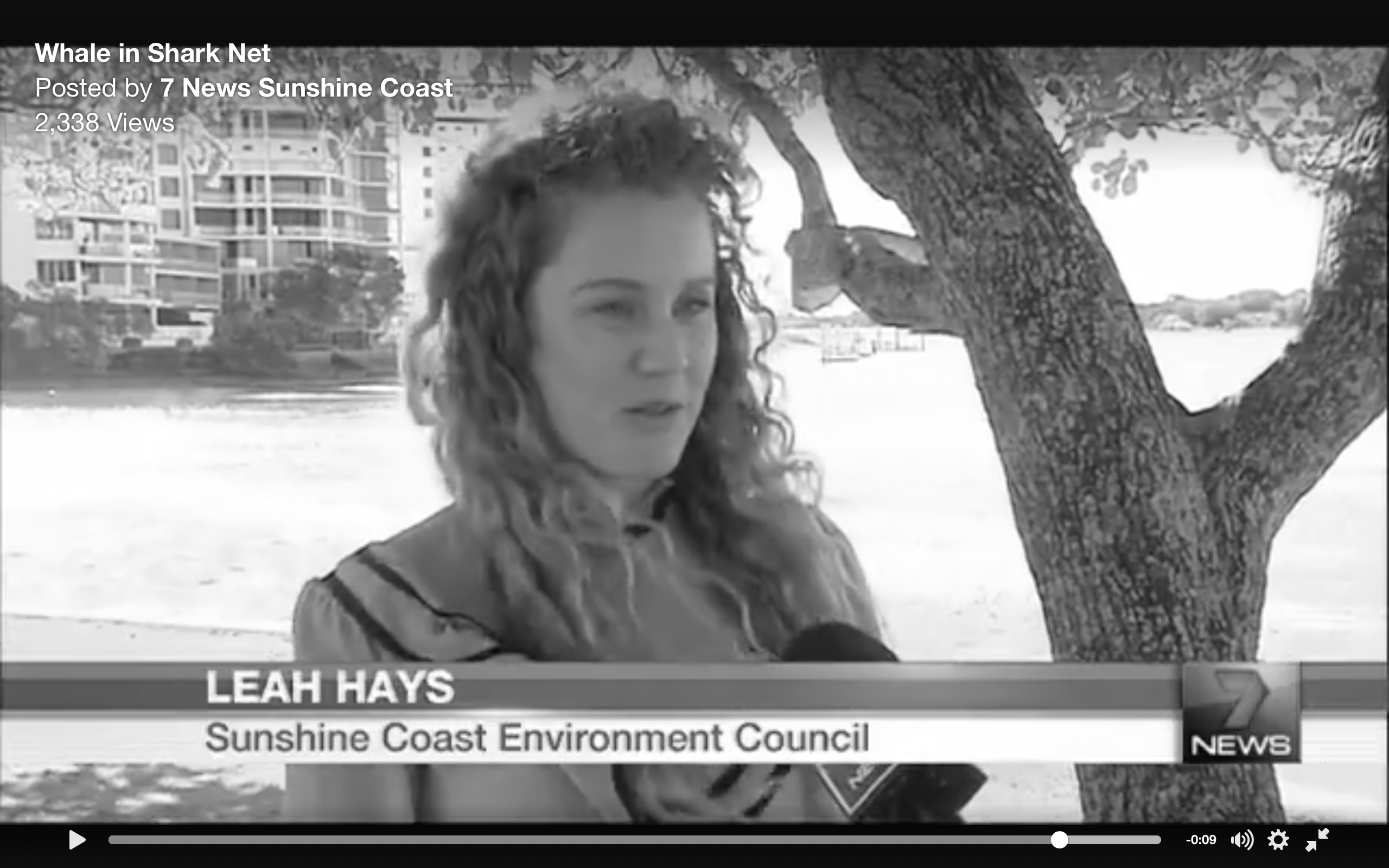Leah talking to channel 7
