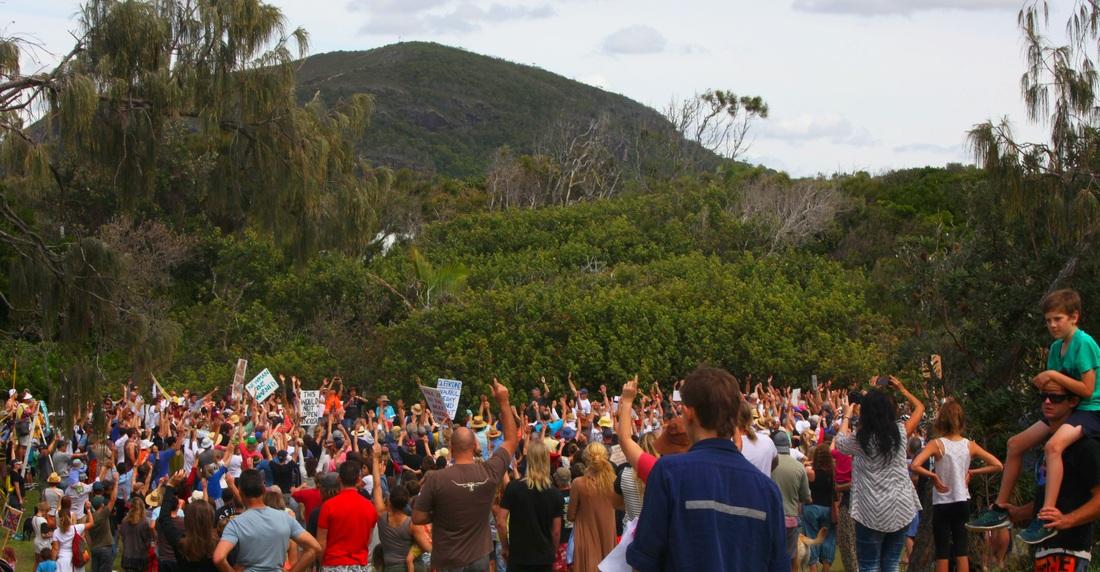 Community rally against Sekisui development