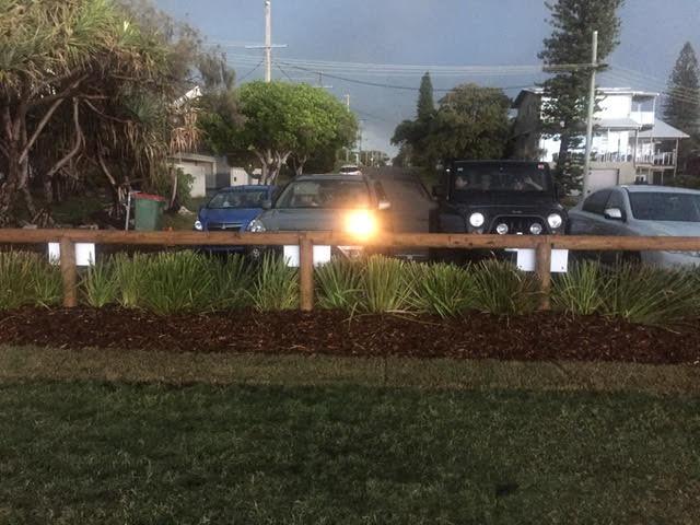 Shelly Beach: fence renewal with lomandra