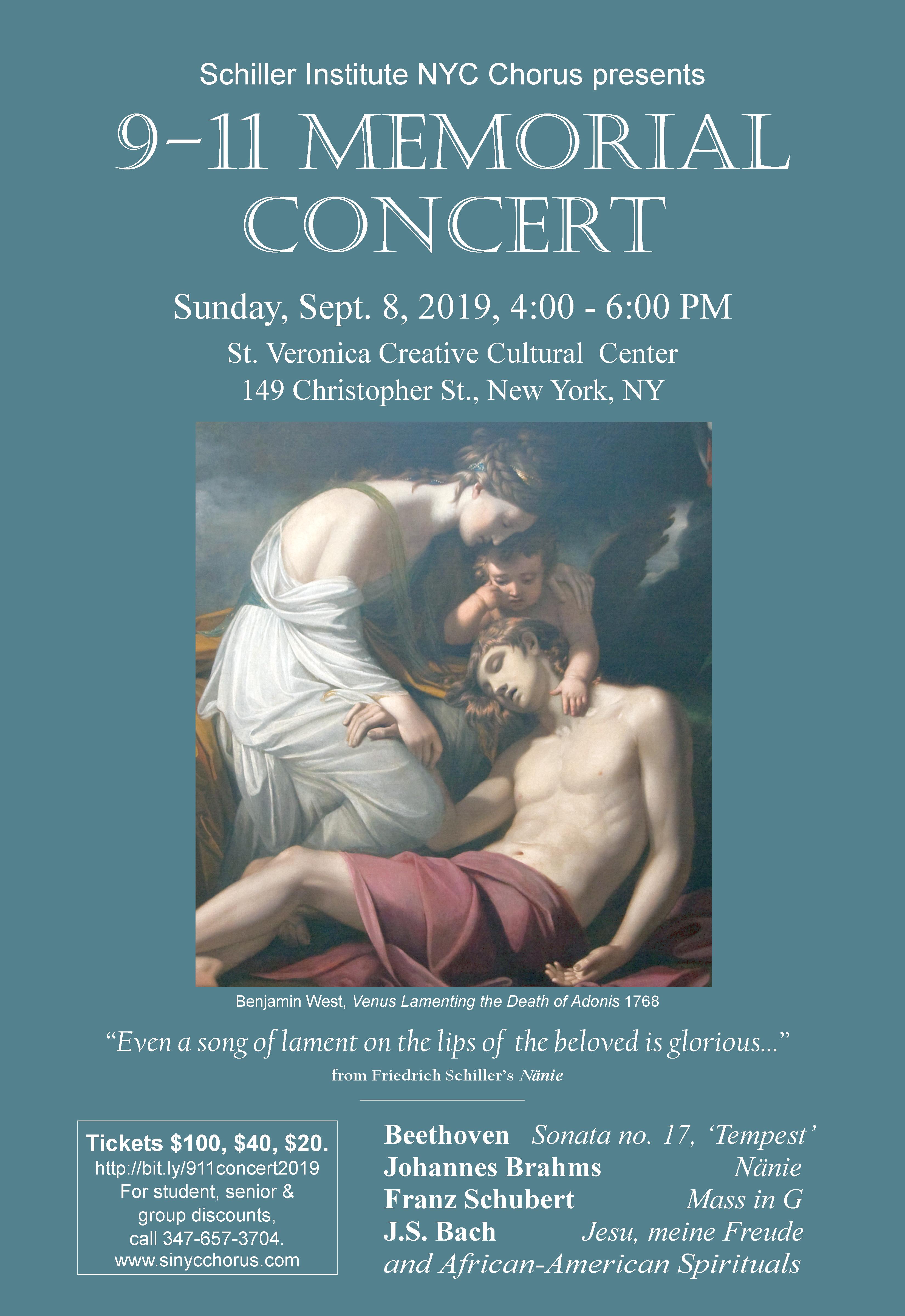 9/11 movie 2019 9 11 2019 Memorial Concert Schiller Institute NYC Chorus