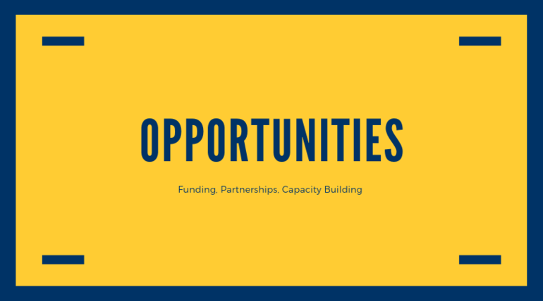 Opportunities | Funding, Partnerships, Capacity Building
