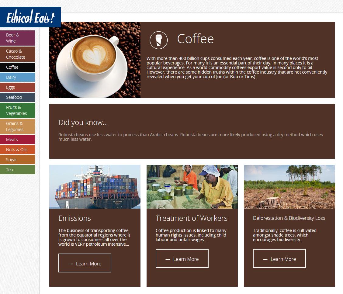 Coffee - web screenshot no footer no side