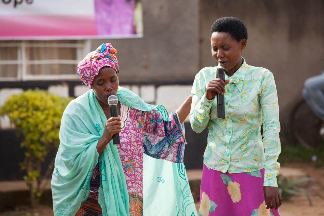 Community Drama in Kigali, Rwanda  - Photo Credit Alexis MacDonald, Stephen Lewis Foundation