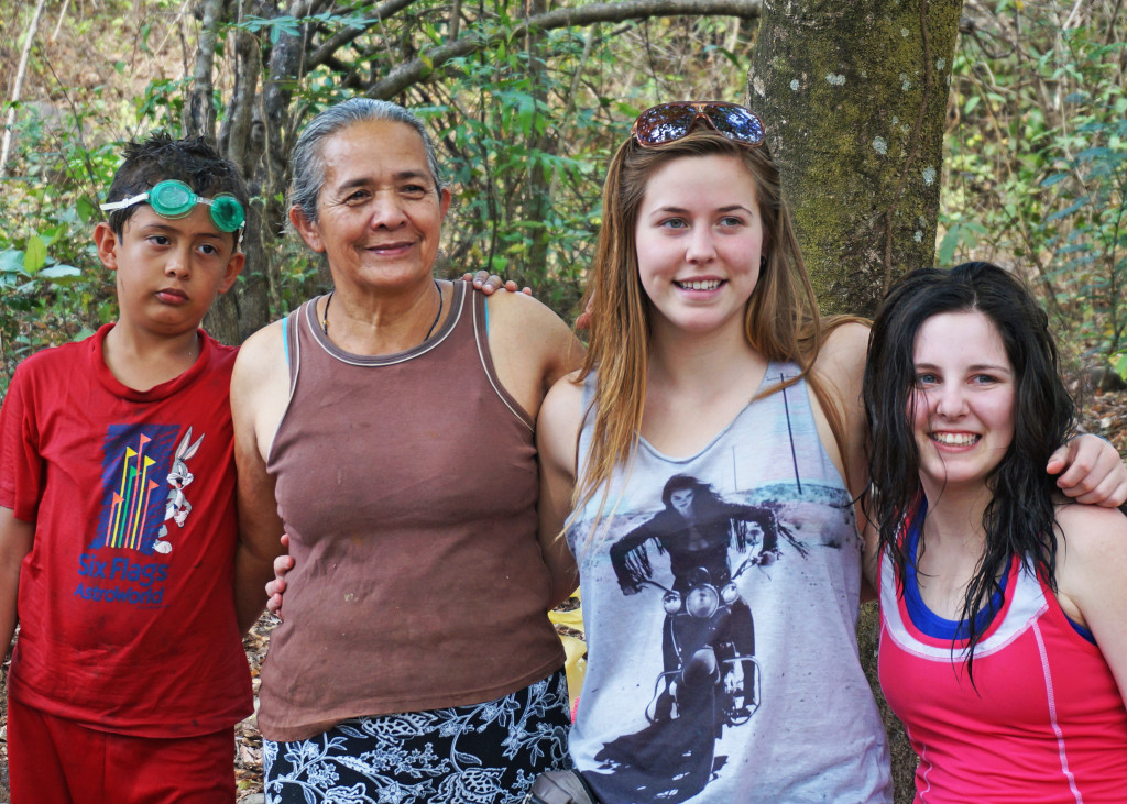 2014 Luther students with members of Carasque community El Salvador - lighting