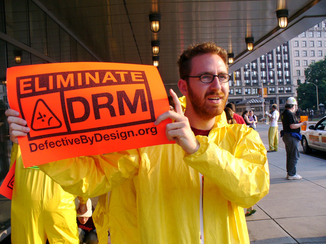 DRM protest in Boston. Photo: Karen Rustad - Creative Commons