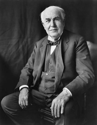 Thomas Edison, photo by Louis Bachrach, restored by Michel Vuijlsteke (Wikimedia Commons)
