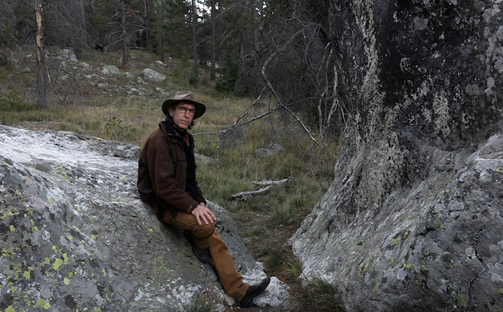 David on a rock