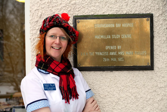 Strathcarron Hospice is a place where patients and staff always seem ready to sing and dance at the drop of a hat whether it's for Burns' Night or any other occasion.