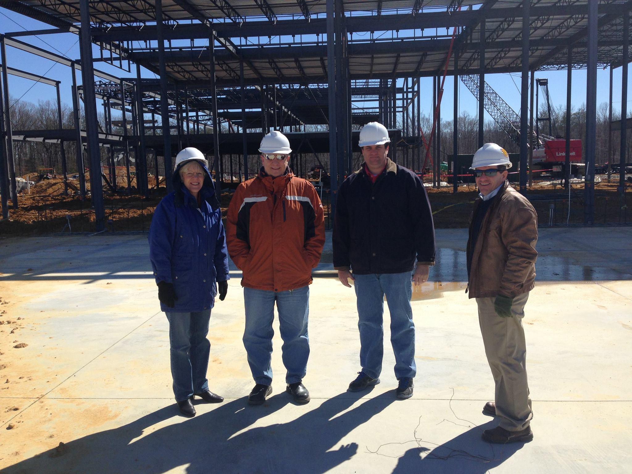 Touring Stafford High School Construction