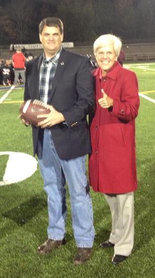 With Supervisor Meg Bohmke at DMS vs. AGW Under the Lights Football game 2014