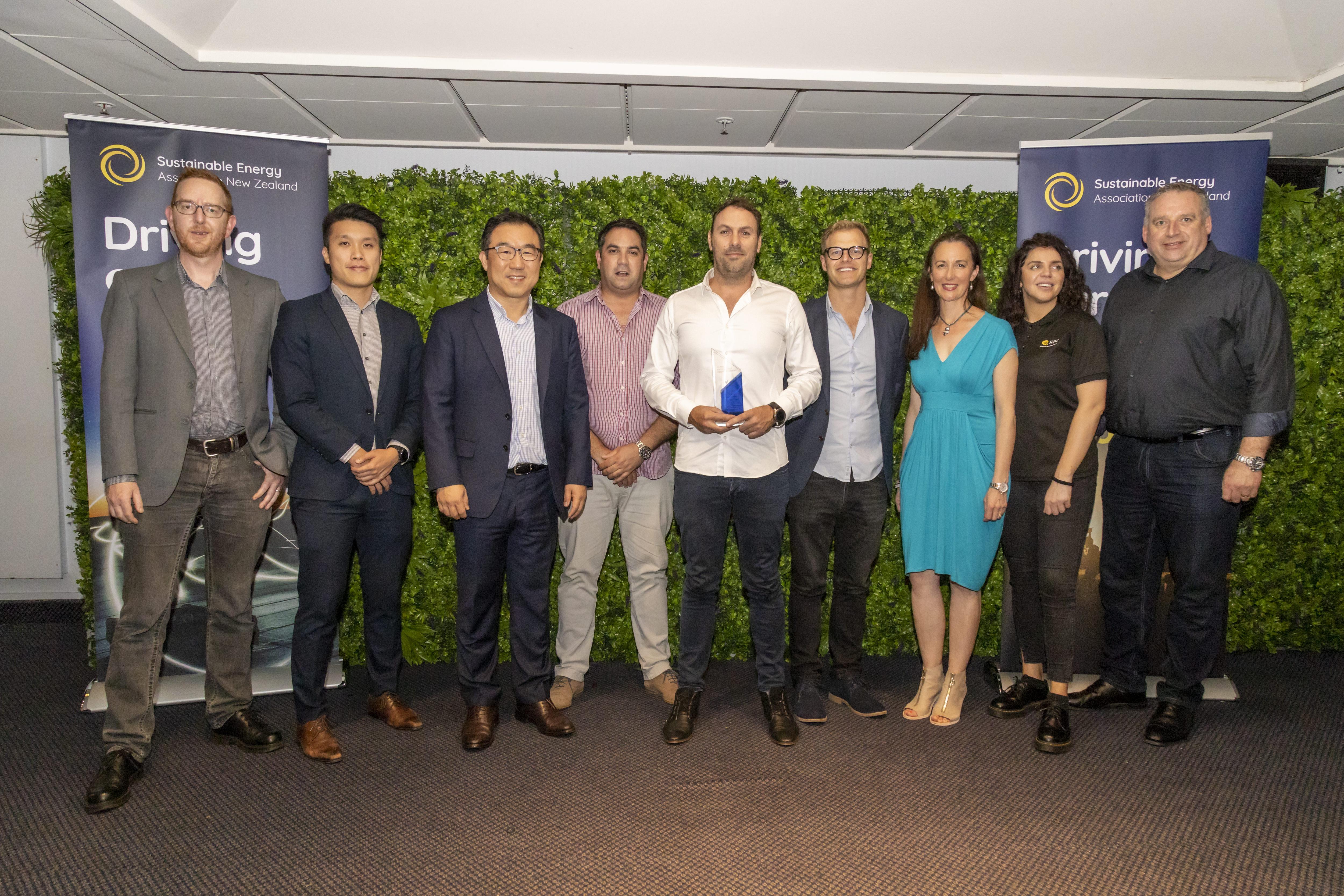 Superpower Technoloies team with Taspac, Trina Solar, REC, Fronius and SEANZ Representatives
