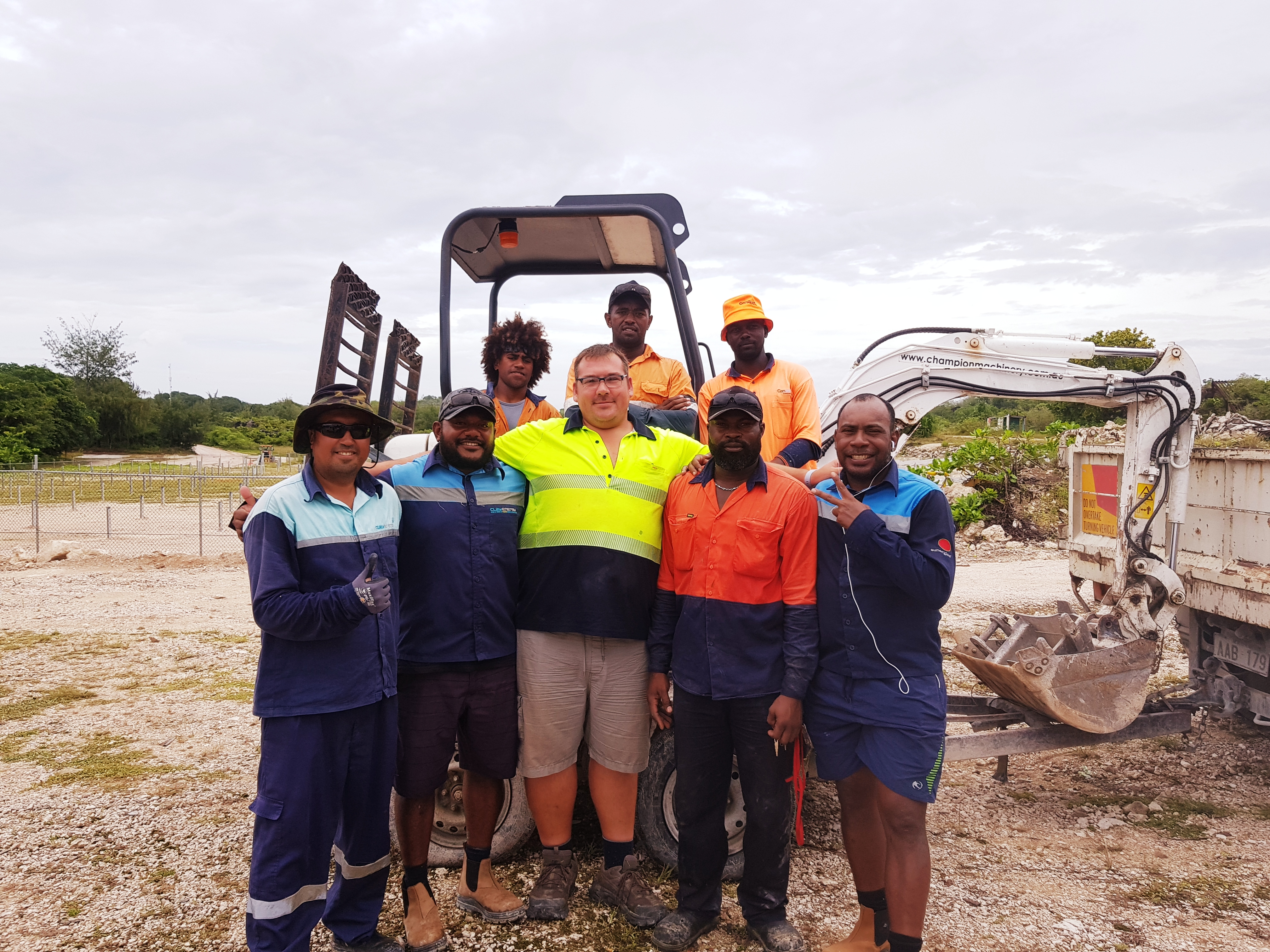 Photo of the team in Nauru