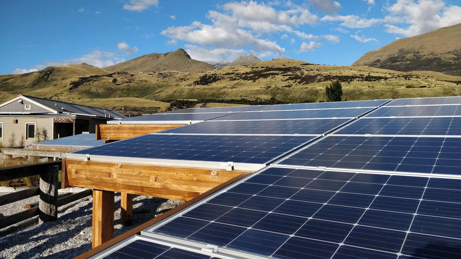 PV solar garden at Camp Glenorchy