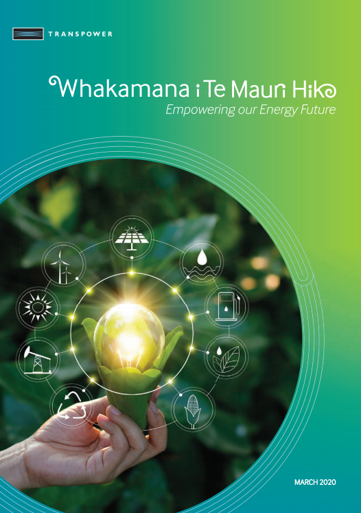 Cover of  Whakamana i Te Mauri Hiko – Empowering our Energy Future