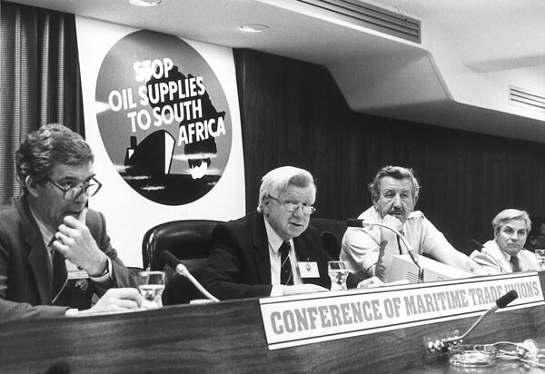 Pat Geraghty (2nd from L) at Conference of Maritime Unions