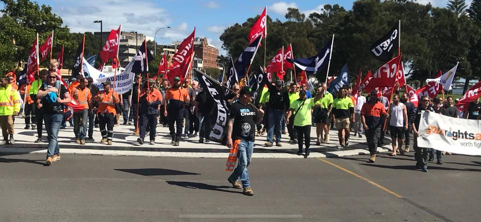 CFMMEU Rally Newcastle
