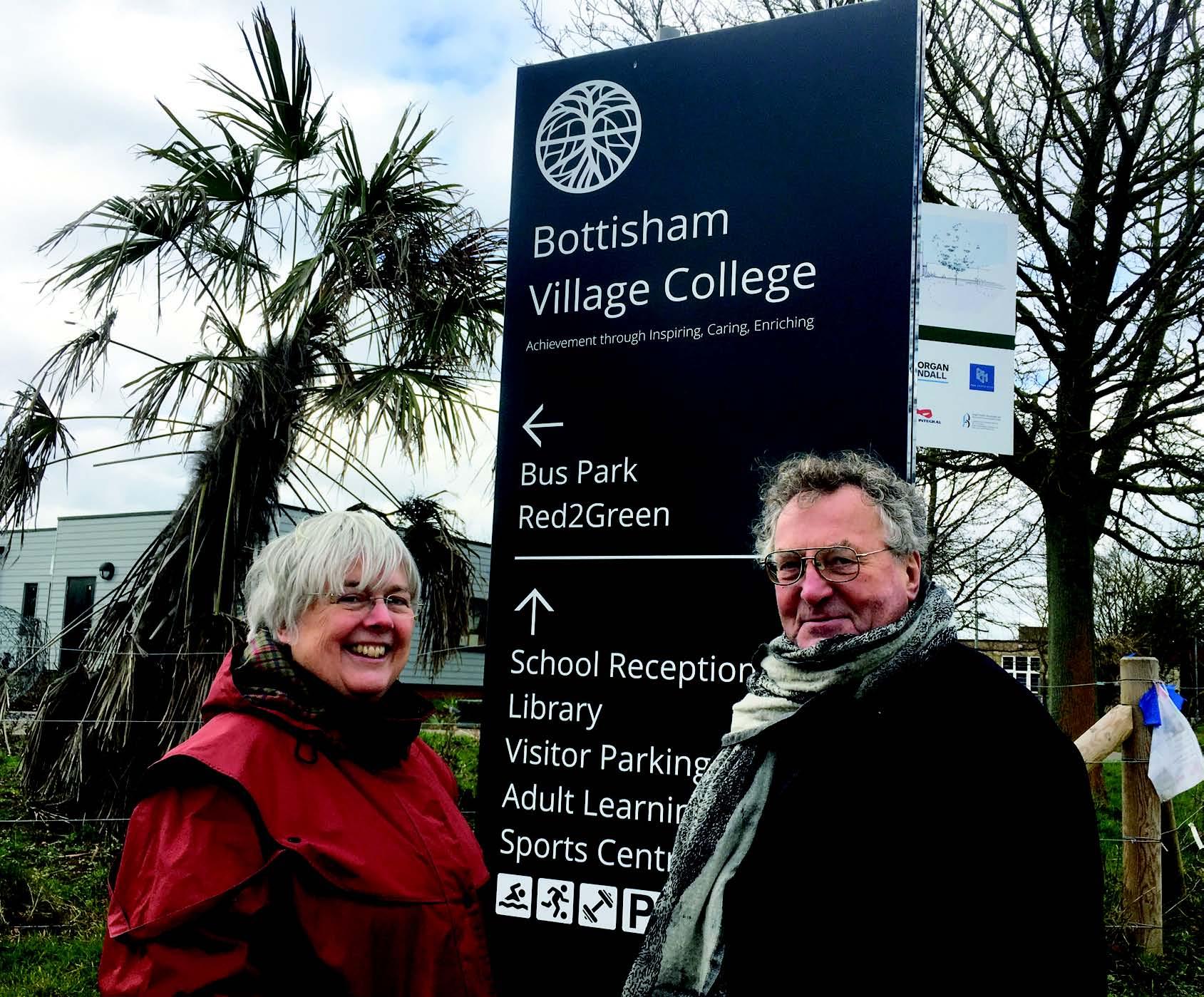 Charlotte Cane and John Trapp at Bottisham Village College