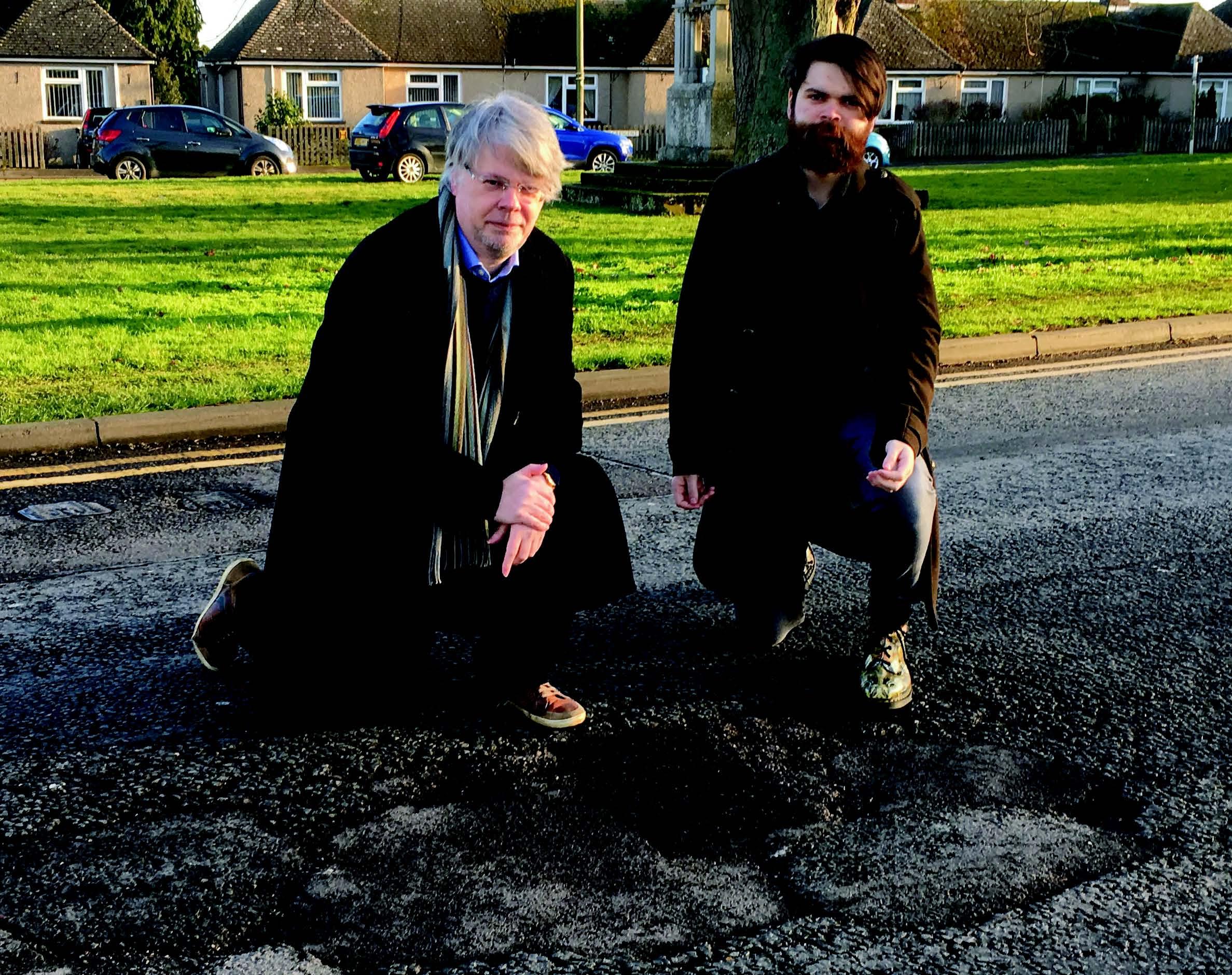 Potholes on Brays Lane