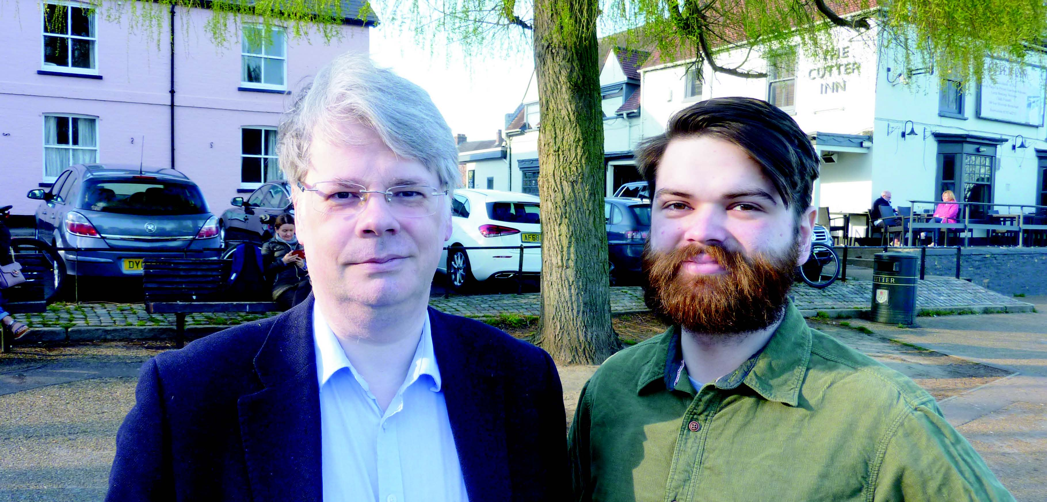 Matt Downey and Kevin Wilkins Candidates for Ely East