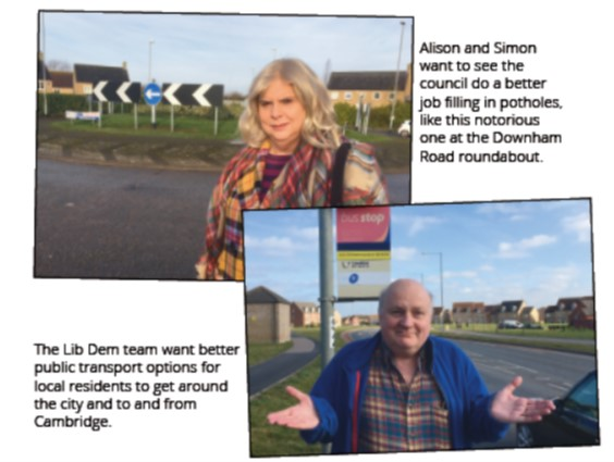 Potholes and public Transport failing in Ely North