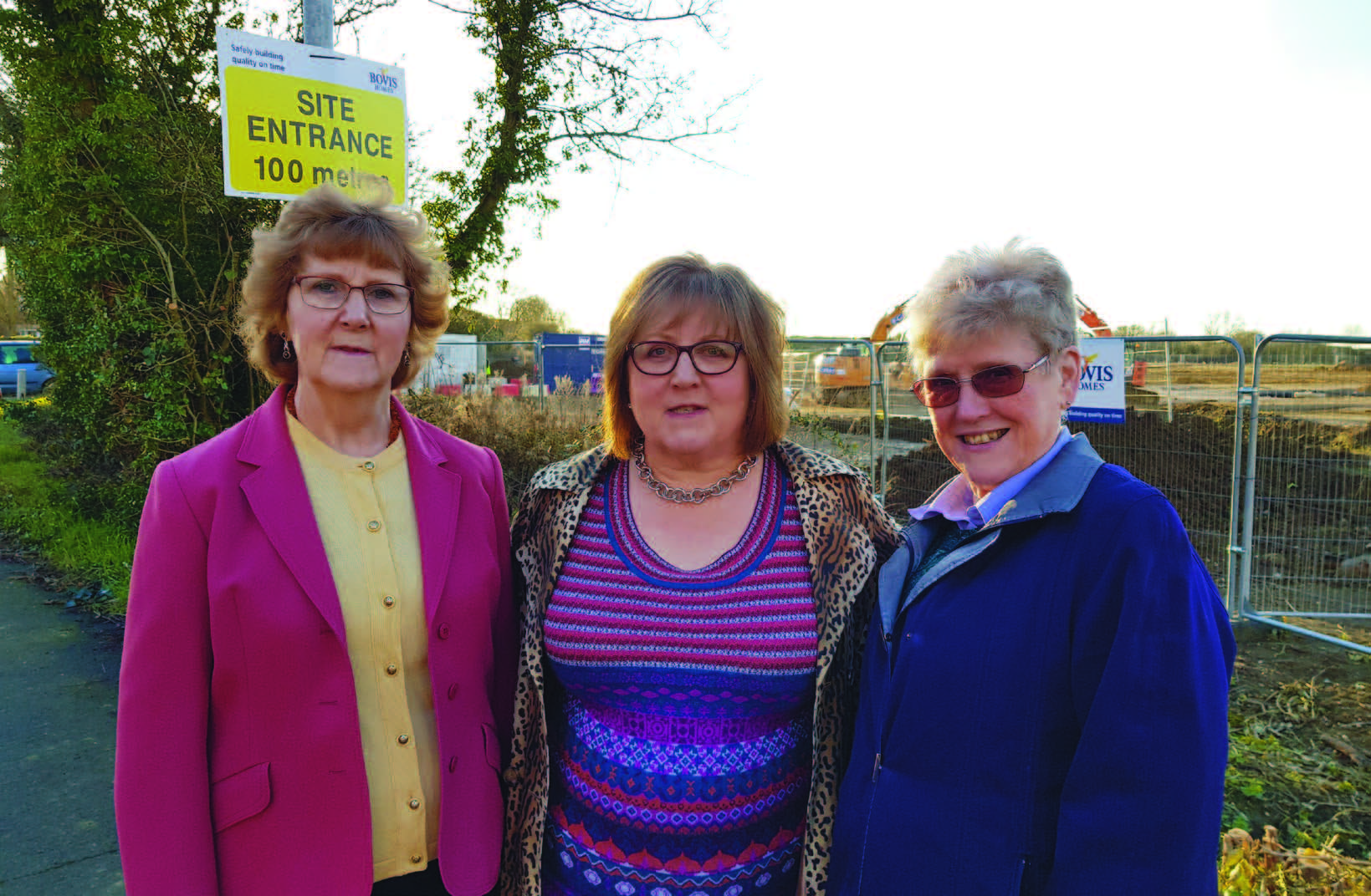 Pauline and Rosemary with local Lib Dem County Councillor Lorna Dupré in Witchford where developers have free rein to build in inappropriate places. The Local Plan is meant to stop this but the Conservatives' local plan shambles has let developers get their way.