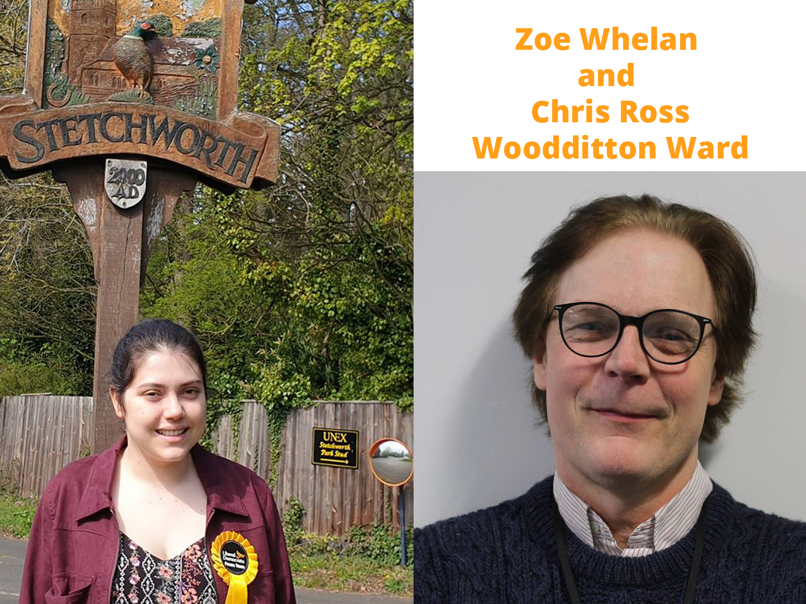 Chris Ross and Zoe Whelan - Lib Dem Candidates for Woodditton