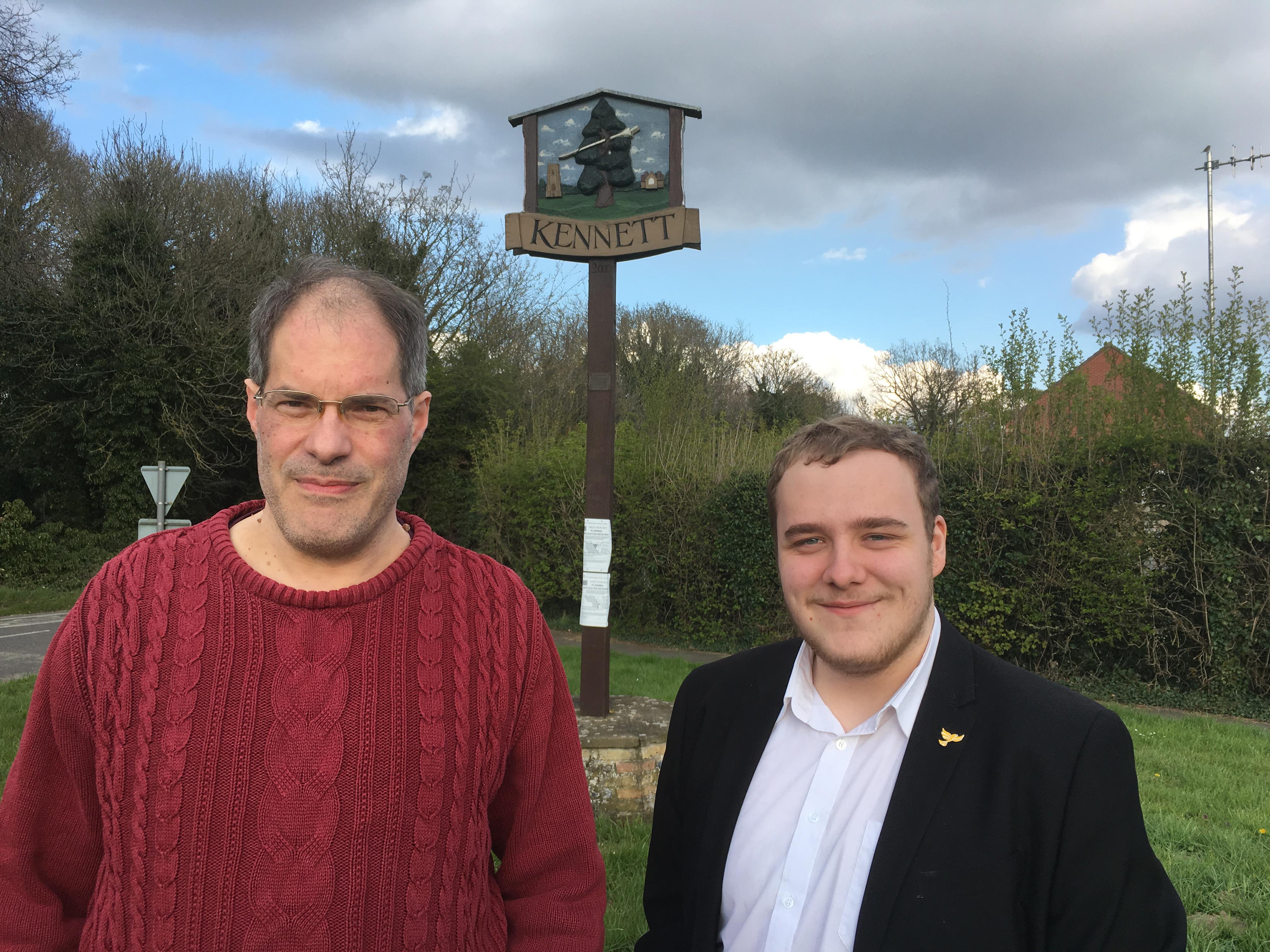 Connor Docwra and Rupert Moss-Eccardt - Lib Dem Candidates for Fordham & Isleham