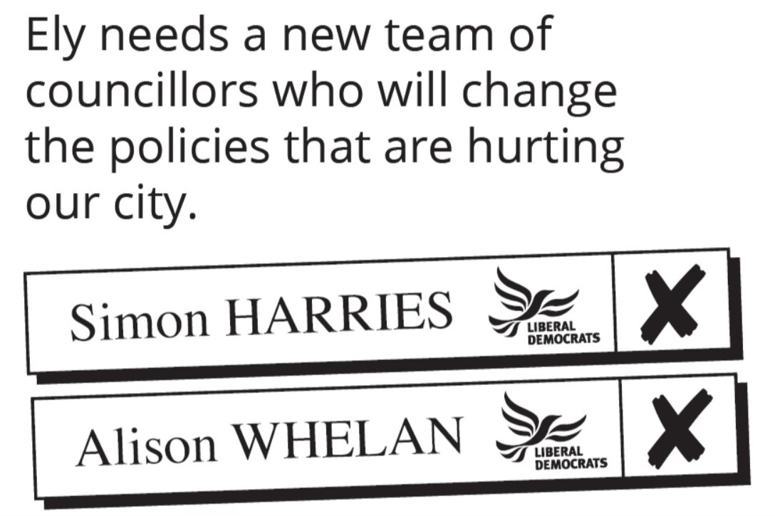 Vote Simon Harries and Alison Whelan on May 2nd 2019