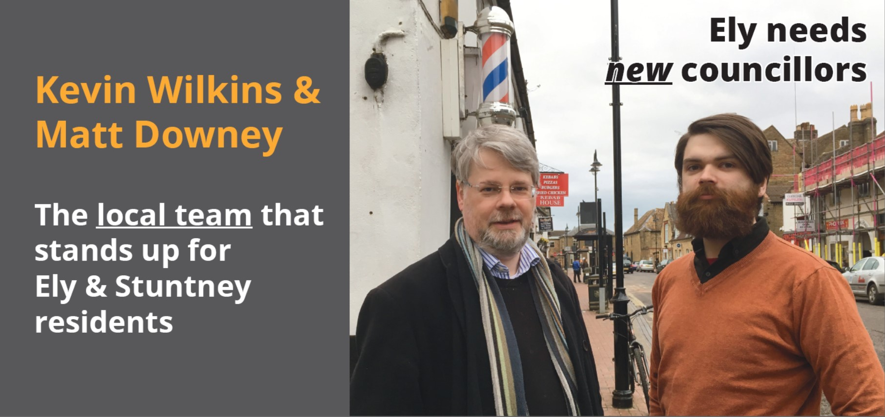 Kevin Wilkins and Matt Downey - Your Ely East Lib Dem Candidates
